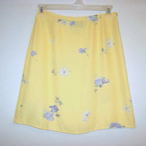 GAP SIZE 4 YELLOW FLORAL SKIRT